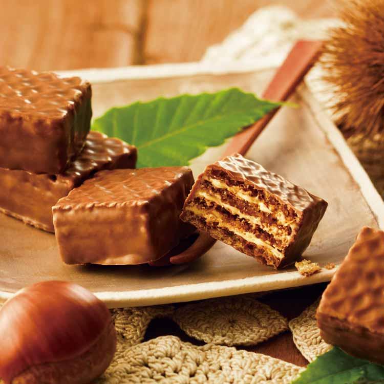 チョコレートウエハース[モンブランクリーム12個入]
